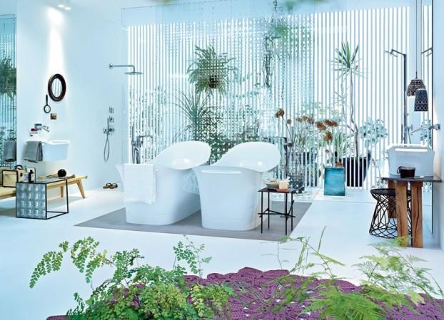 nowoczesne baterie łazienkowe w projekcie i stylu Patrici Urquioli