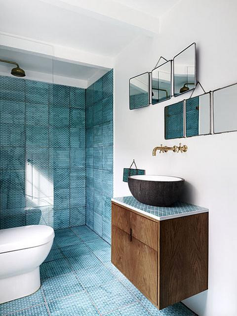 Aranżacja łazienki w stylu nowoczesno-rustykalnym