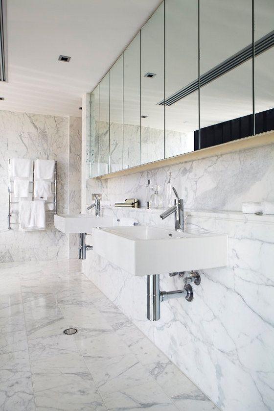 marmurowa łazienka - podłogi i ściany