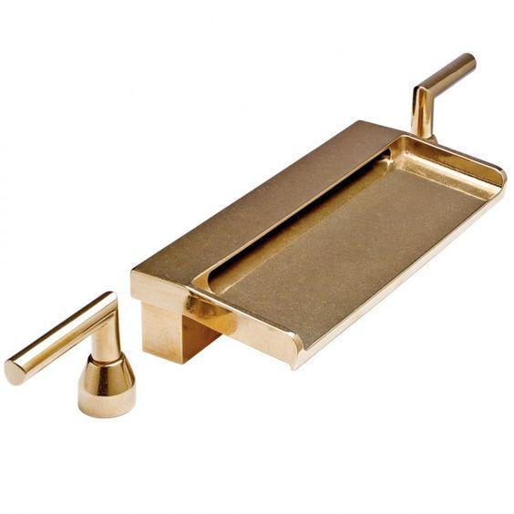 baterie łazienkowa - złota bateria kaskadowa