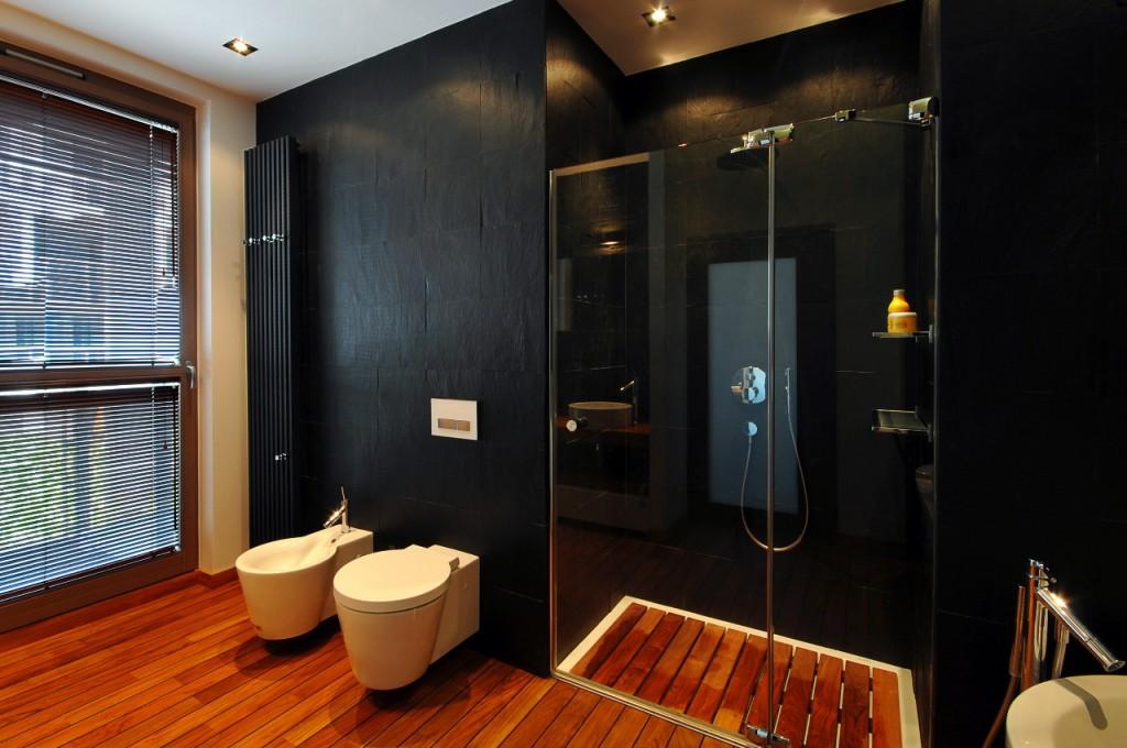 Czarna łazienka Inspirująca łazienka