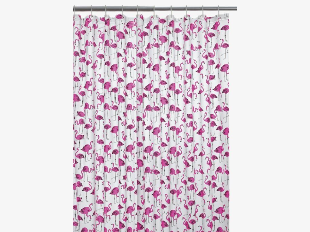 Zasłona prysznicowa z flamingami
