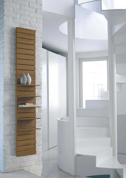 """Grzejniki łazienkowe np. """"drewniany"""" z półkami"""
