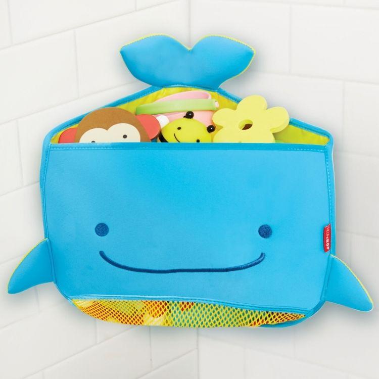 akcesoria łazienkowe narożny kosz na zabawki kąpielowe z kształcie wieloryba