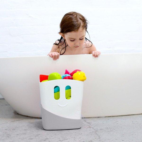 akcesoria łazienkowe kosz stojący z anty poślizgowym dnem na zabawki kąpielowe