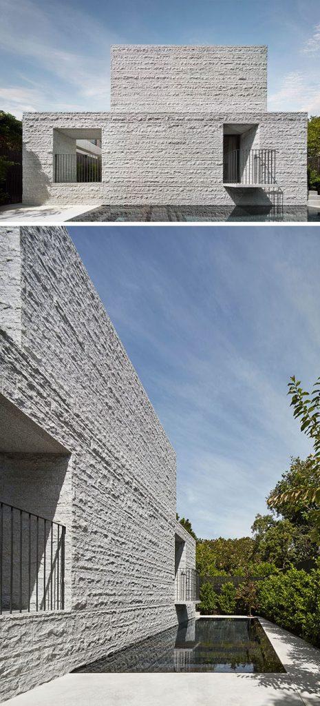 granitowa elewacja budynku