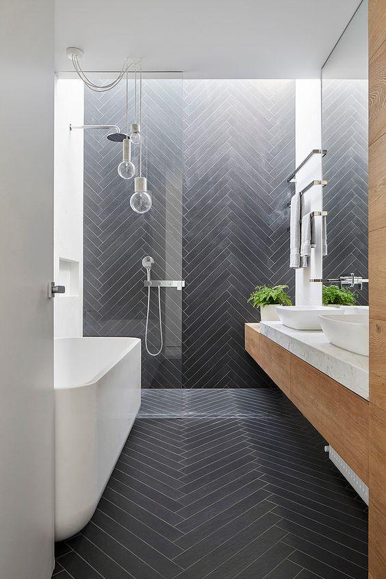 świetlik W łazience Inspirująca łazienka
